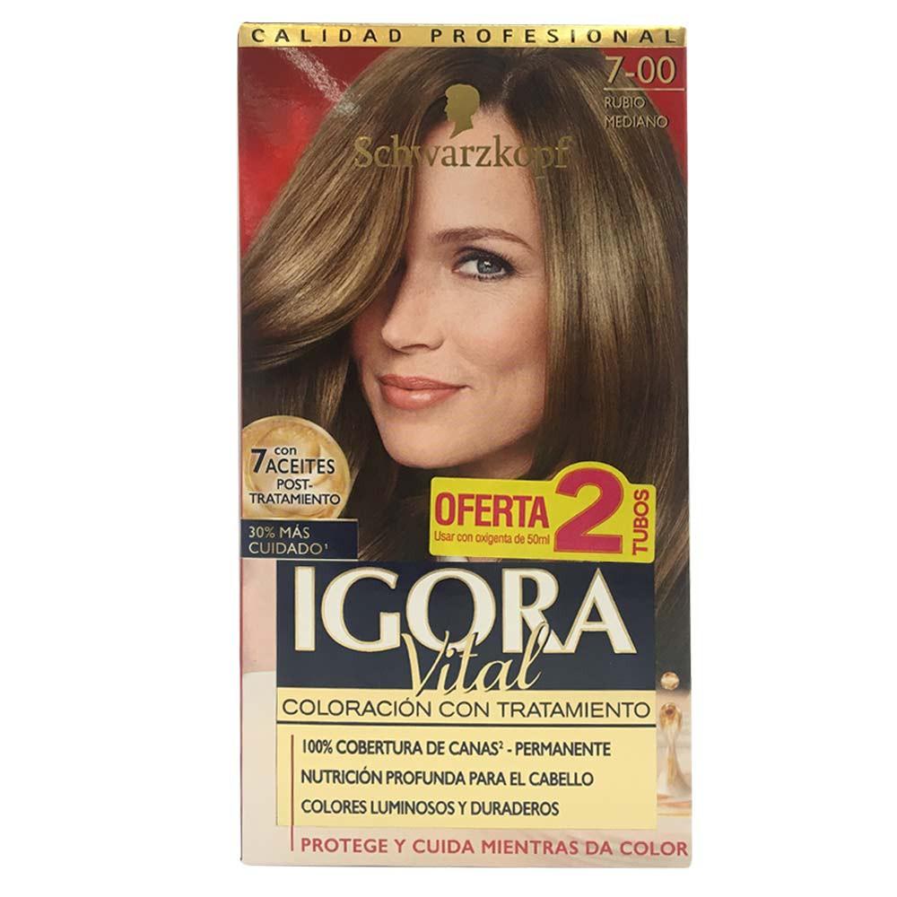 Kit Igora Vital coloración con tratamiento No.7 x 6unds x 172.5 ml
