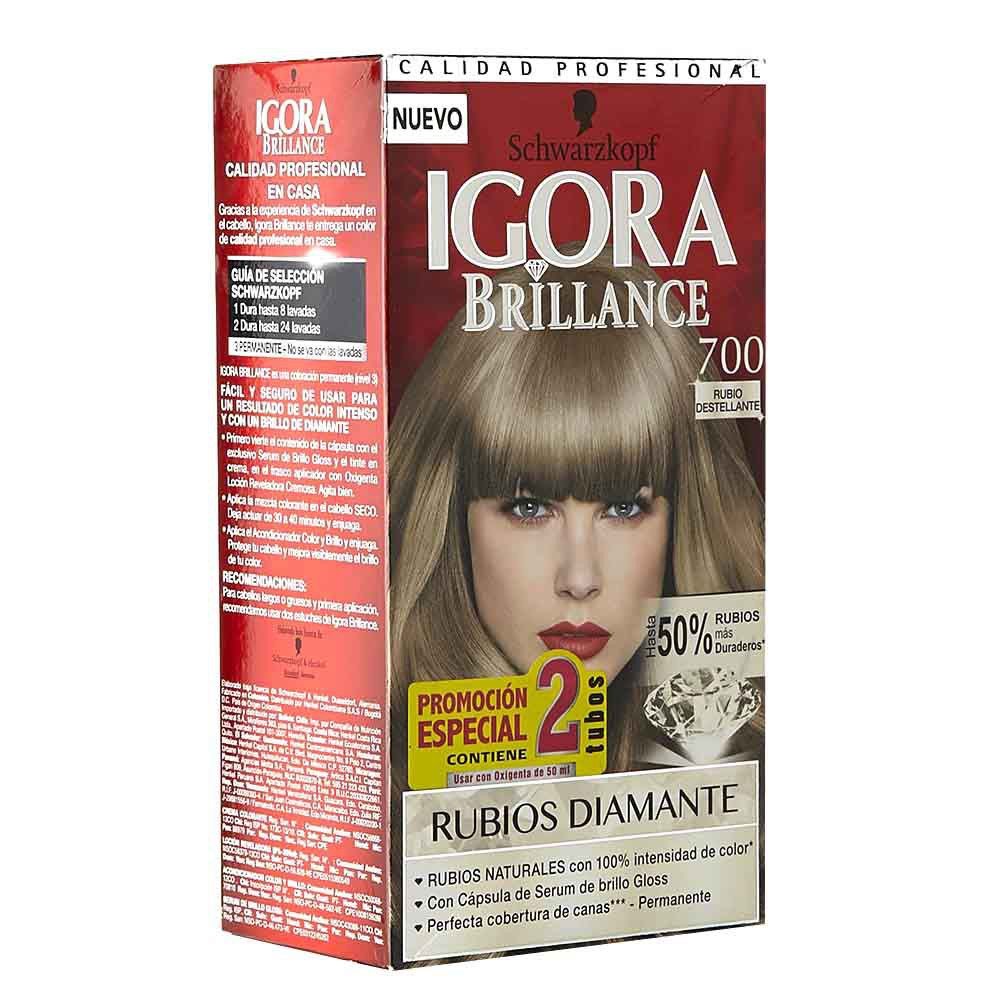 Tinte Igora brillance doble tubo rubio medio no.