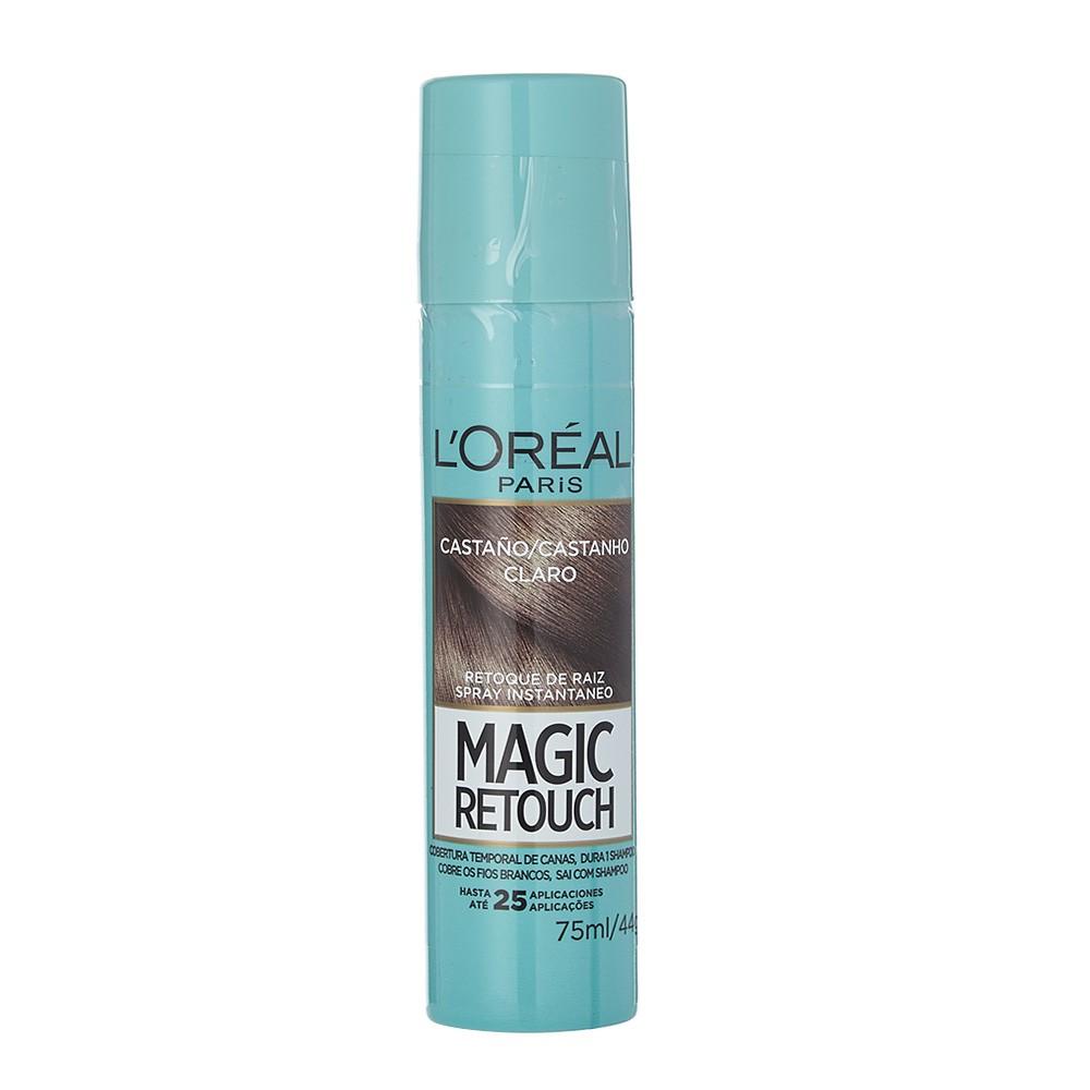 Retoque raíz castaño claro spray