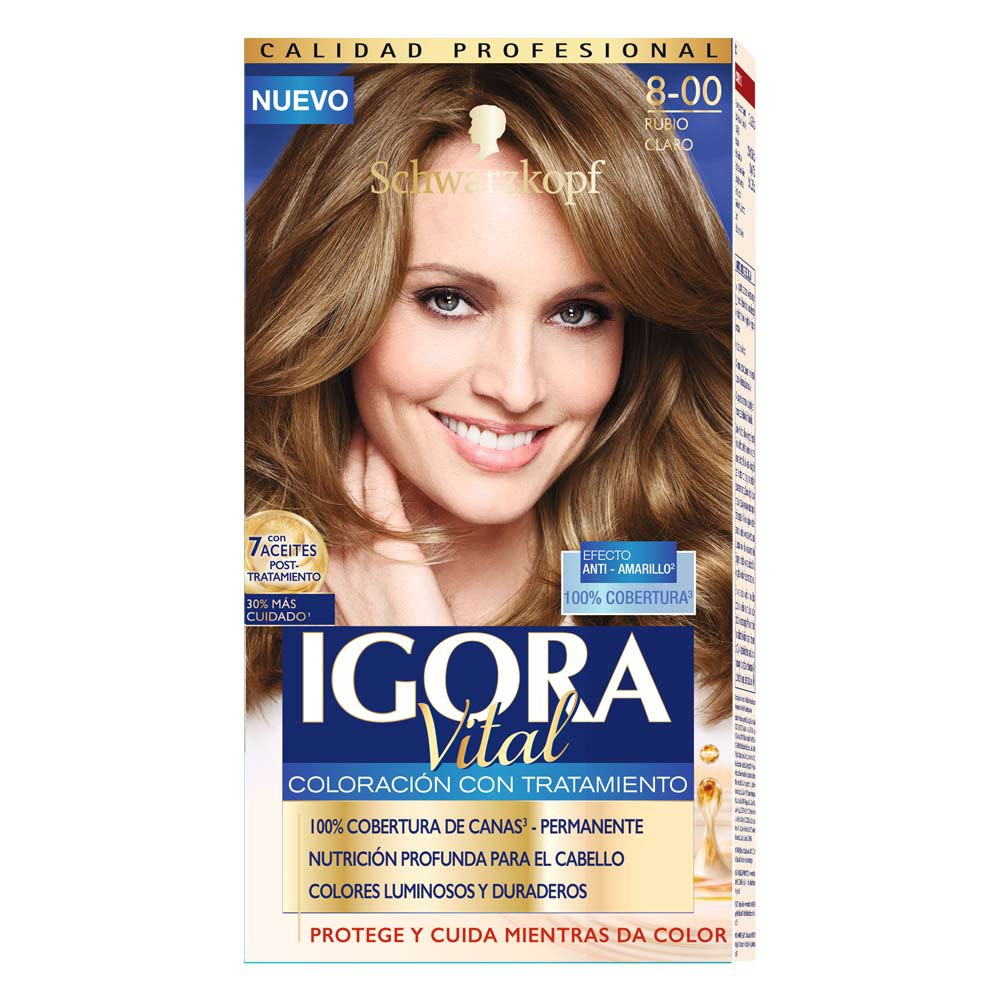 Kit Igora vital coloracion con tratamiento tono 8-00