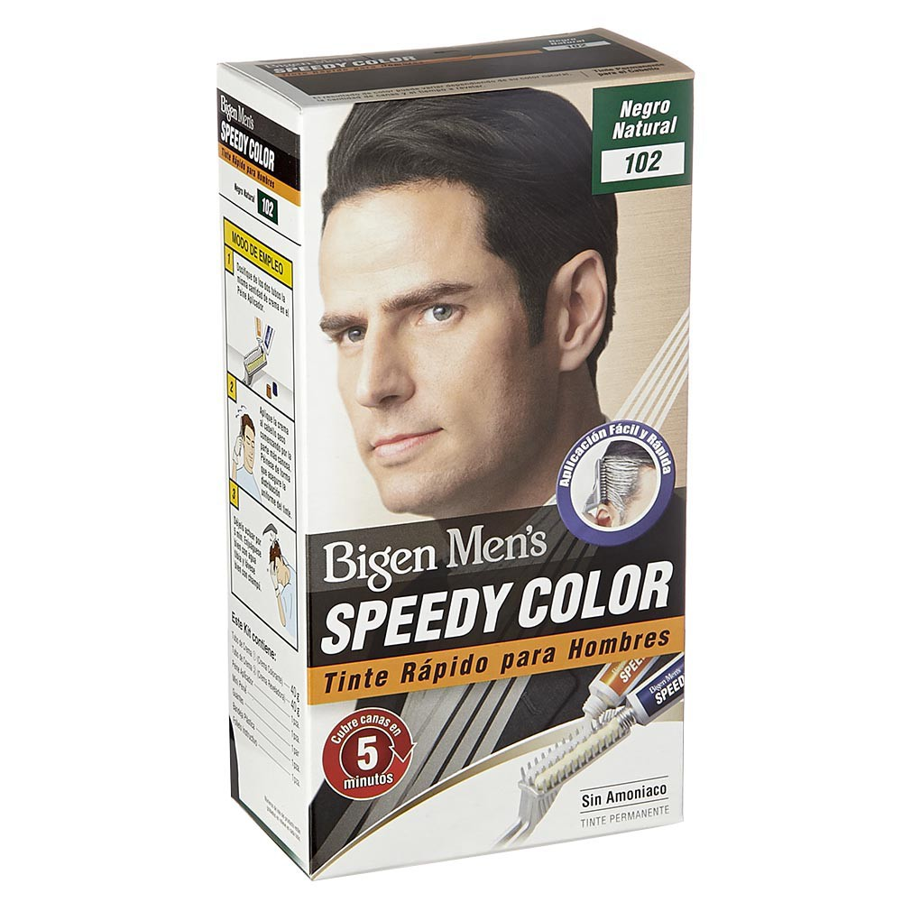 Bigen men`s speedy tinte 102 negro natural