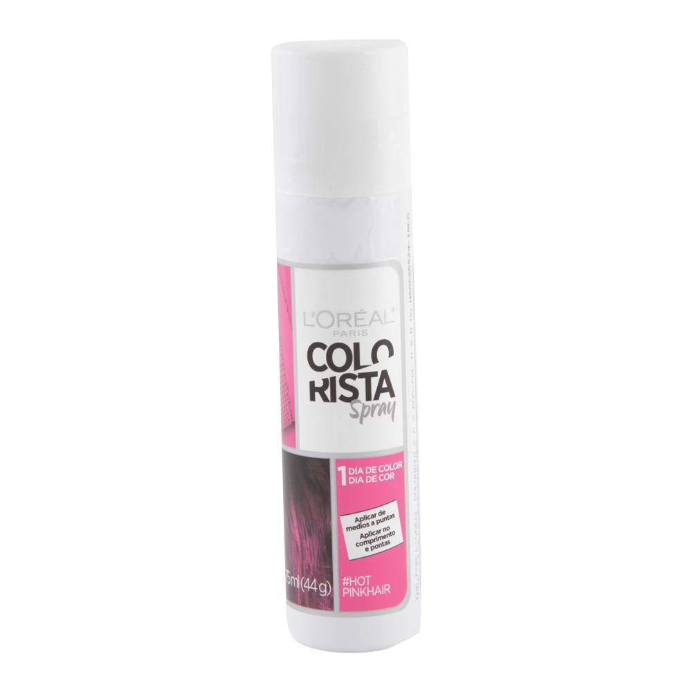 Color spray colorista tono rosado cálido