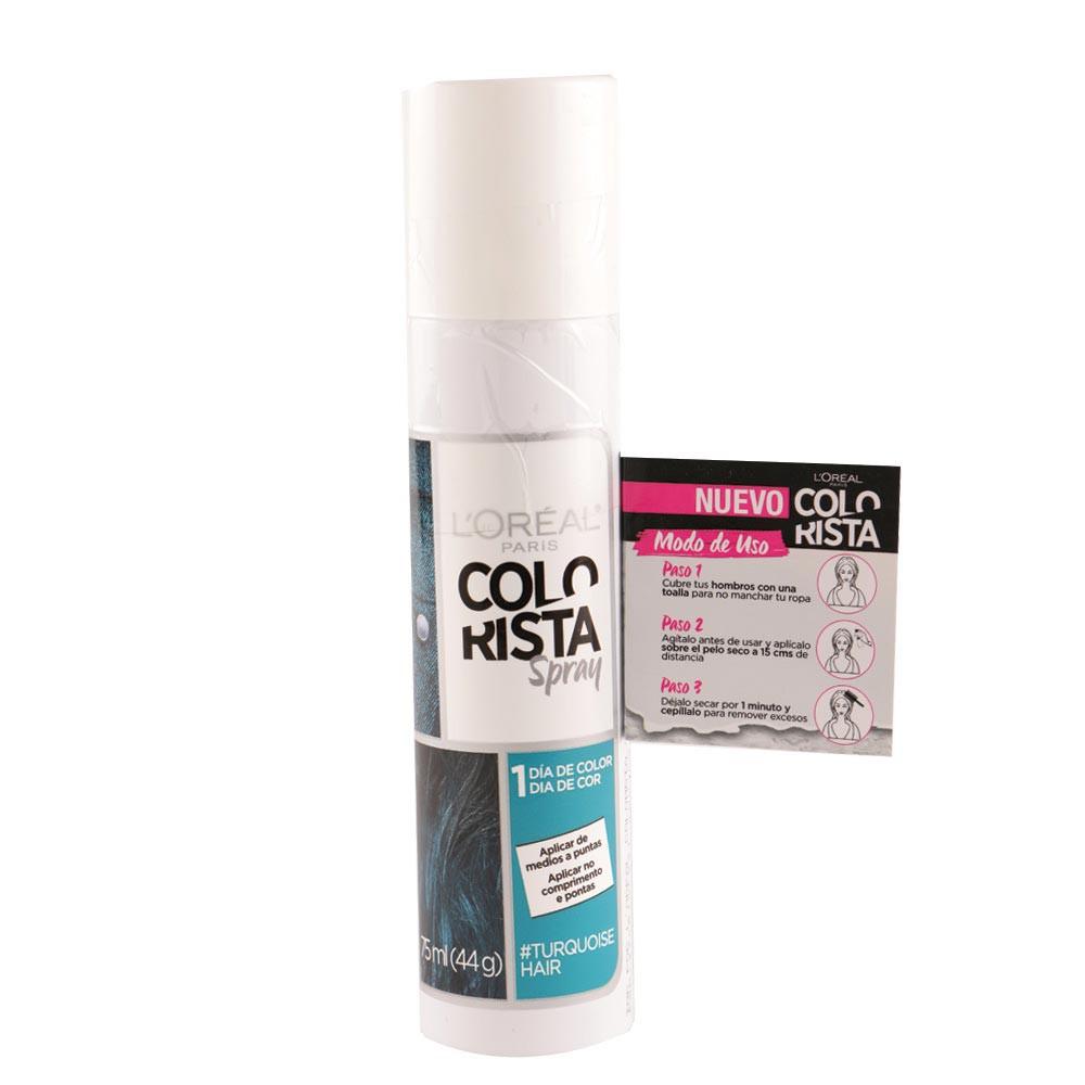 Color spray colorista tono turquesa