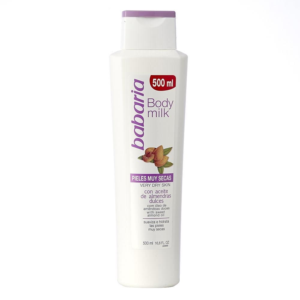 Leche corporal Babaria aceite almendras piel seca 500 ml