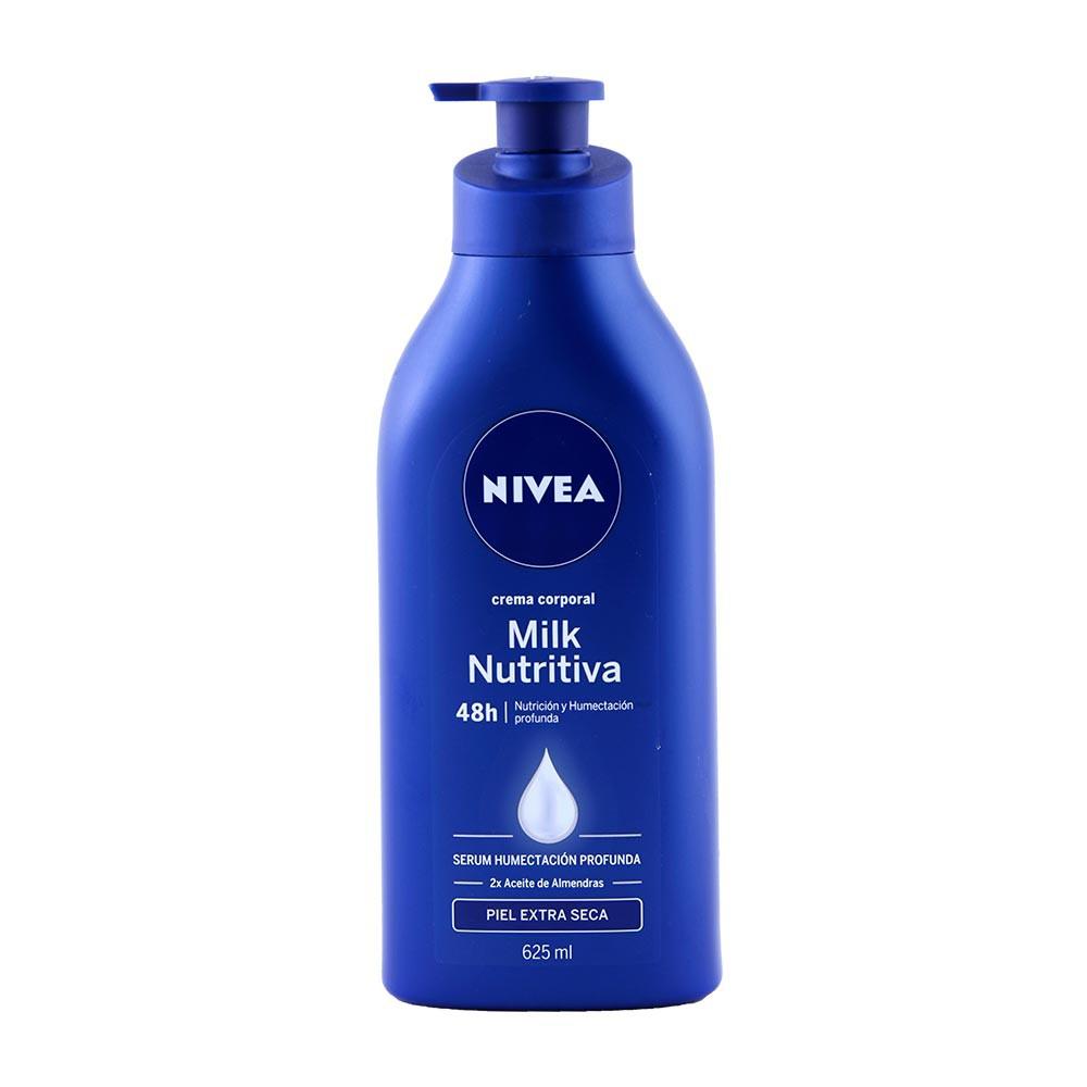 Crema Nivea corporal leche nutritiva piel seca