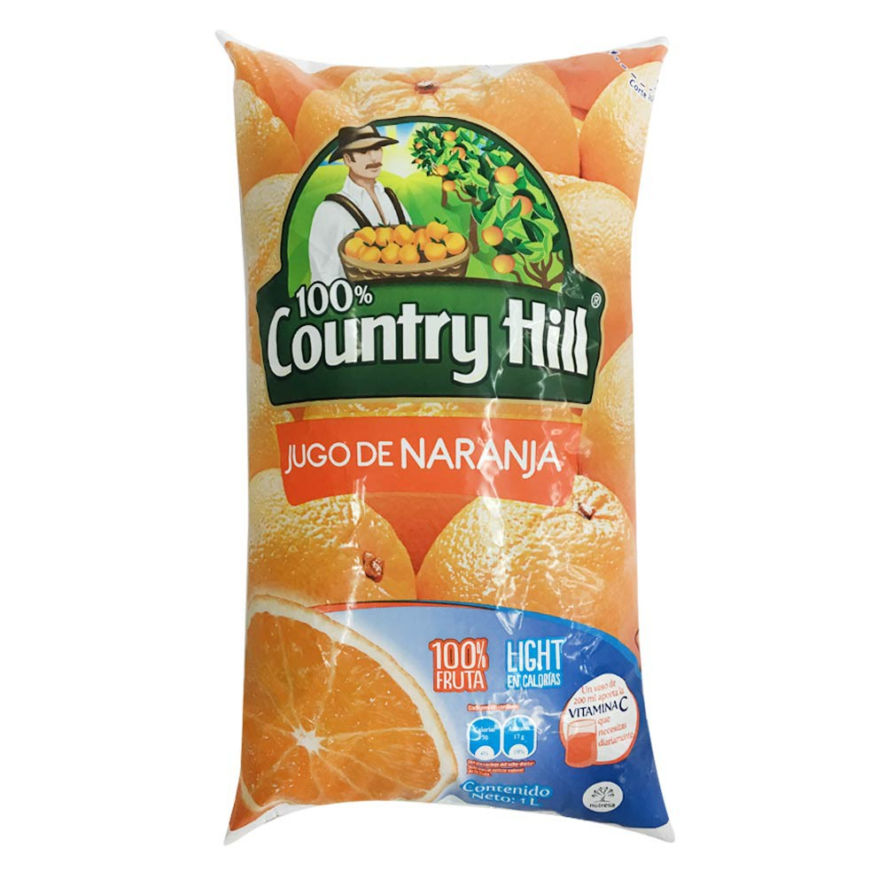 Jugo Country Hill naranja light bolsa