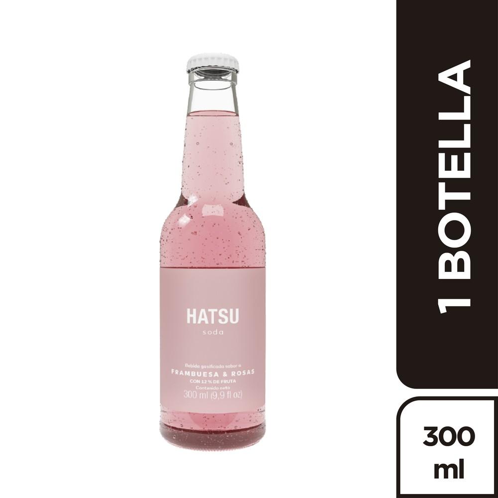Soda sabor frambuesa y rosas
