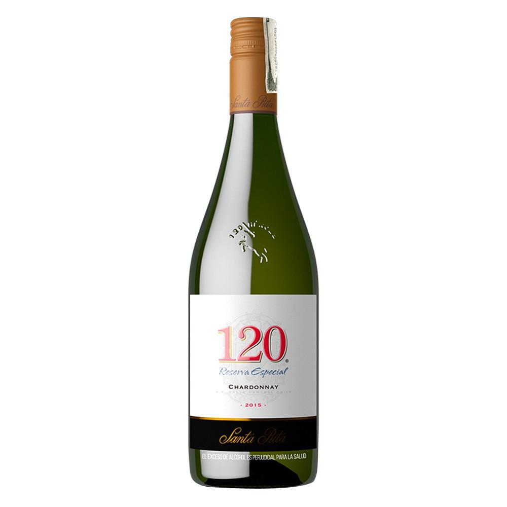 Vino blanco Santa Rita 120 chardonnay botella