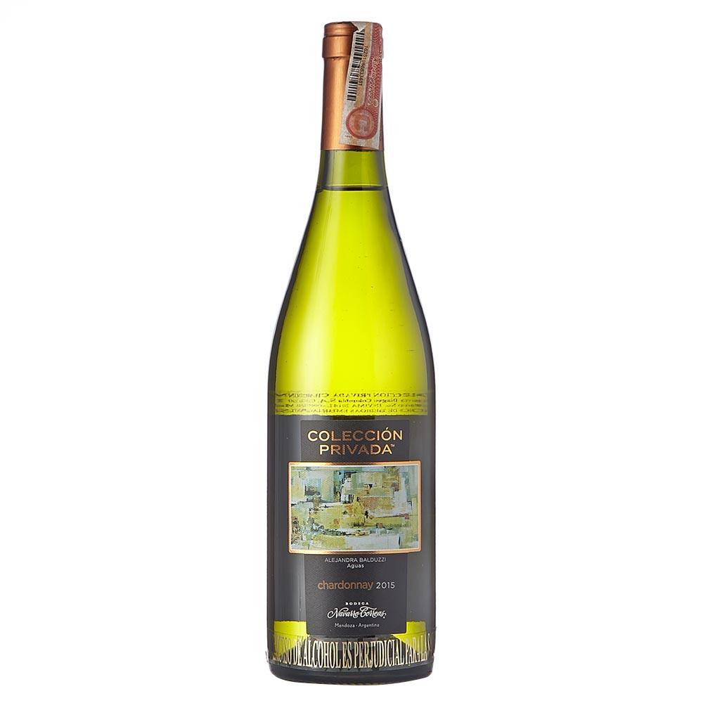 Vino blanco Navarro correas colección privada chardonnay botella