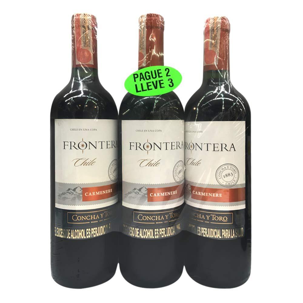 Vino Frontera Carmenere x 750 ml pague 2 lleve 3