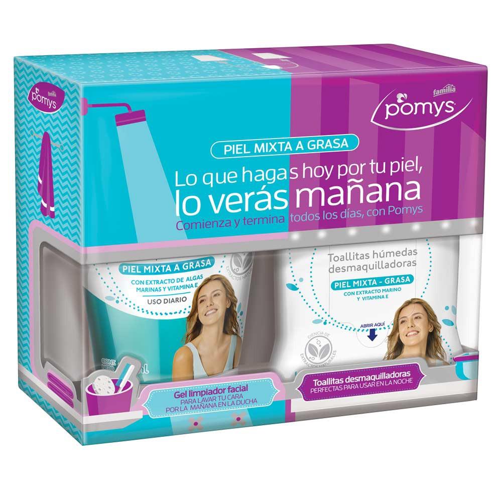 Gel limpieza facial + toallas desmaquillantes