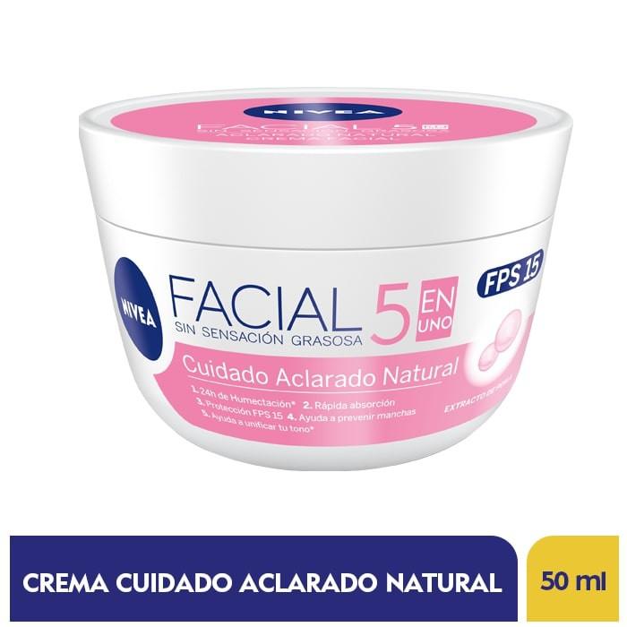 Crema cuidado facial aclarado natural