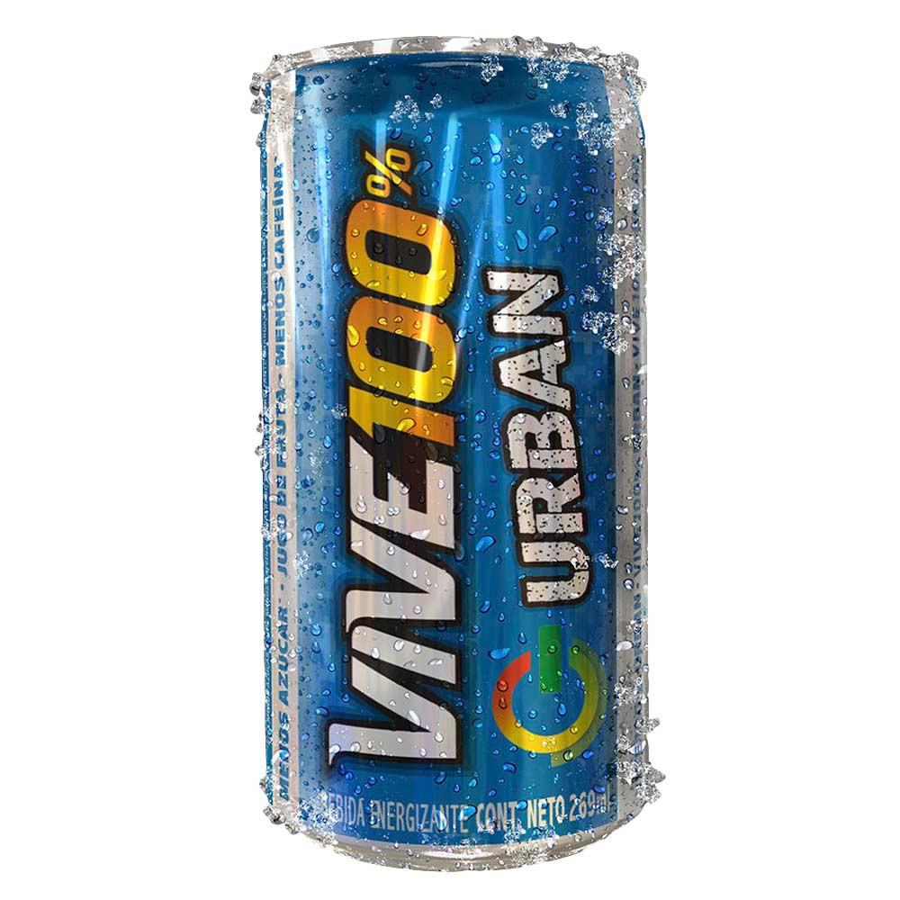 Bebida energizante VIVE 100% urban lata