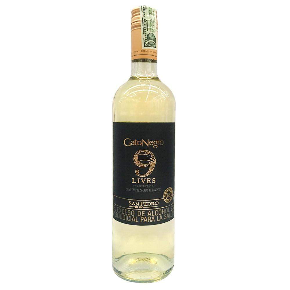 Vino blanco Gato Negro 9 lives reserve sauvignon 750 ml