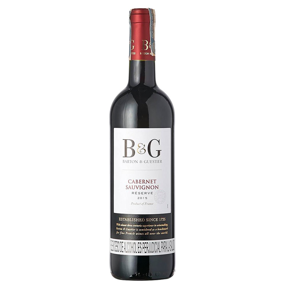 Vino Barton & Guestier cabernet sauvignon res botella