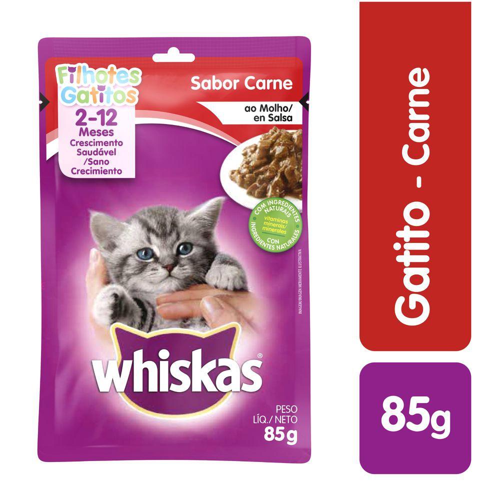 Alimento gatitos sabor carne 85 g