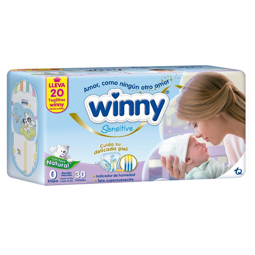 Winny Sensitive Gold Etapa O 30 Pañales + 20 Toallitas Recién Nacido