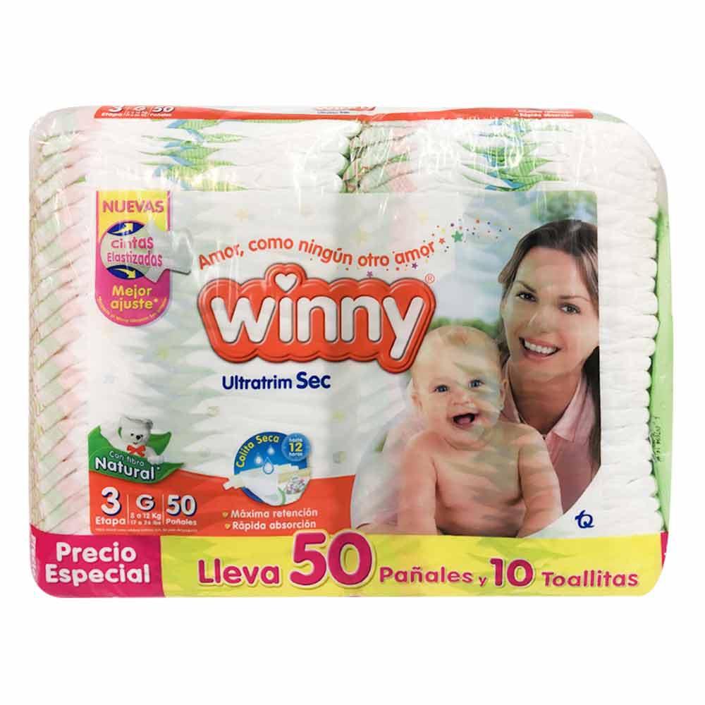 Pañal Winny sec etapa 3 x 35 +15 pañales + 10 toallitas