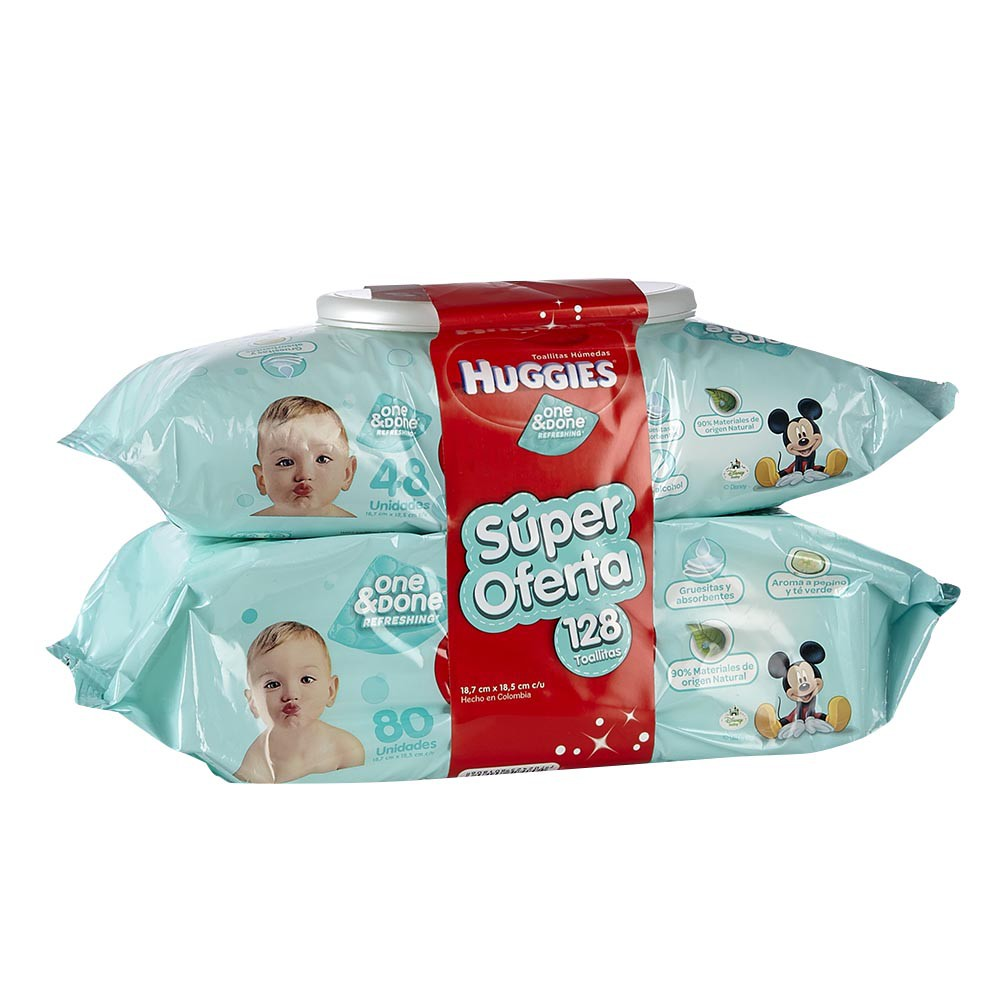Toallitas one&done refres Huggies
