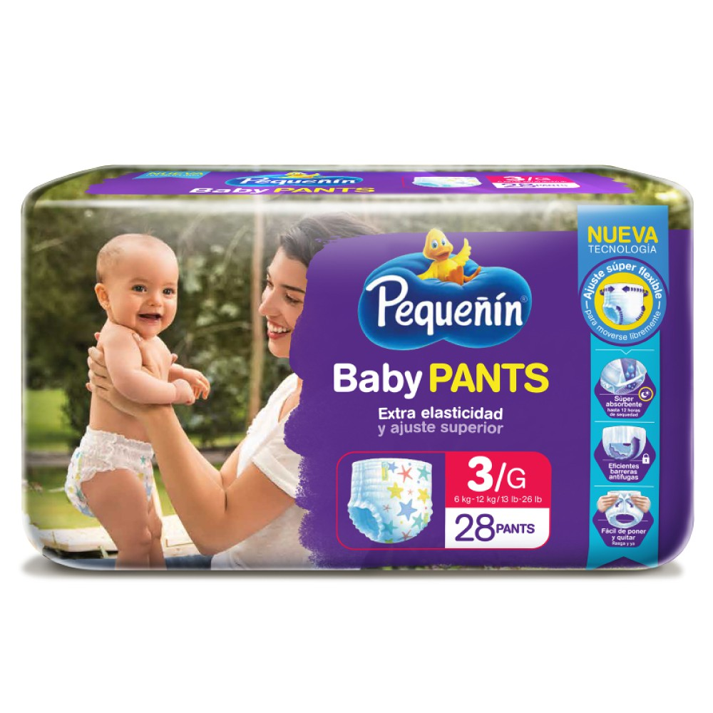 Pañal Pequeñin Baby Pants Etapa 3 x 28 und