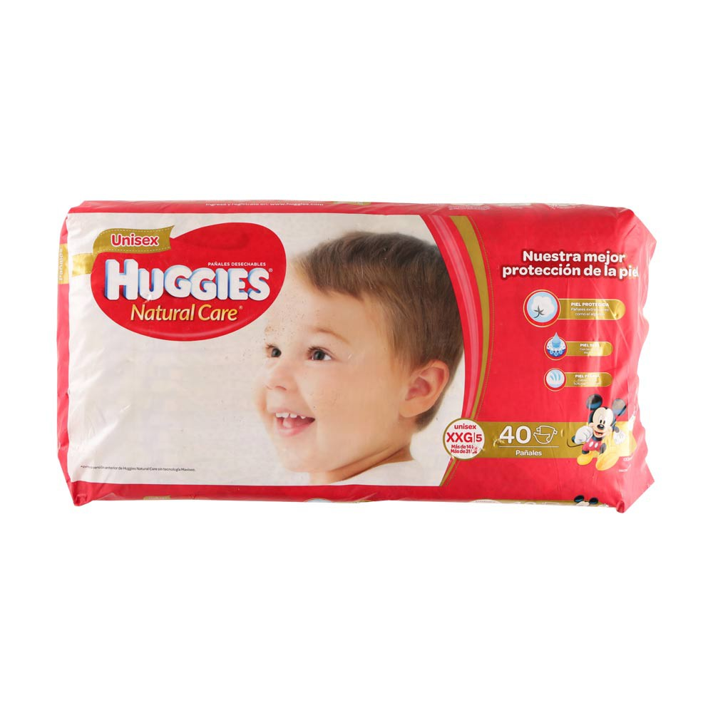 Pañales Huggies Natural Care unisex etapa XXG