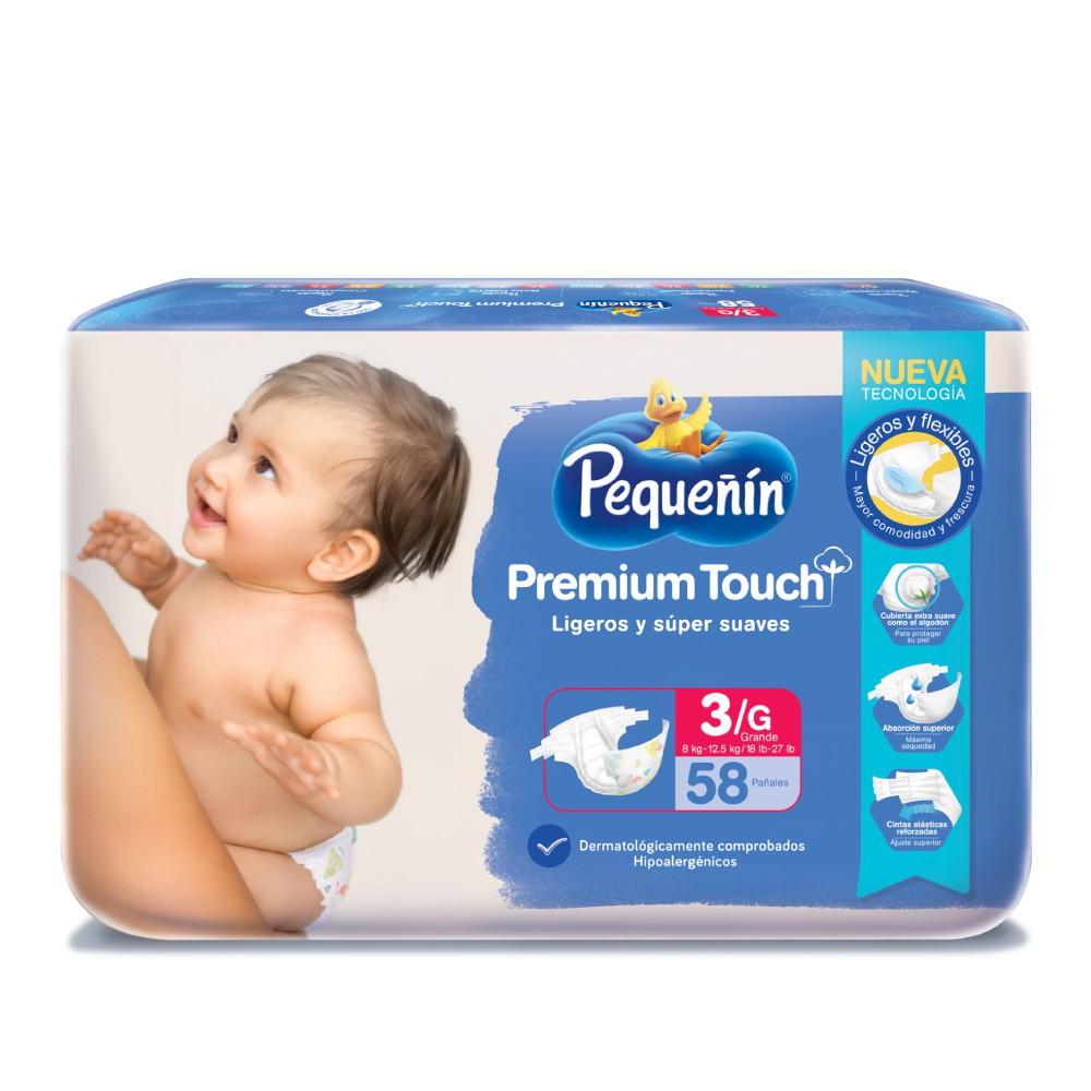 Pañales Premium touch explorador etapa 3g Pequeñín