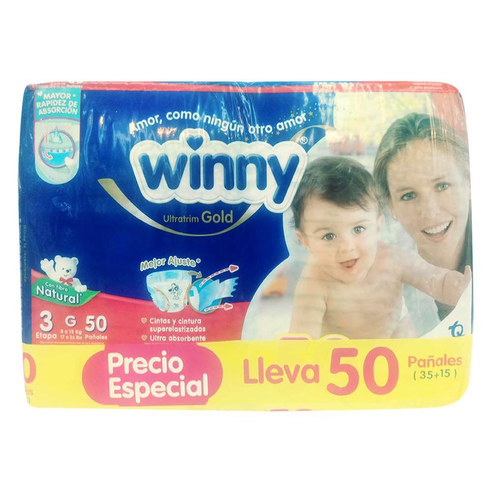 Pañal Winny gold etapa 3 x 35 und + 15 pañales +10 toallas