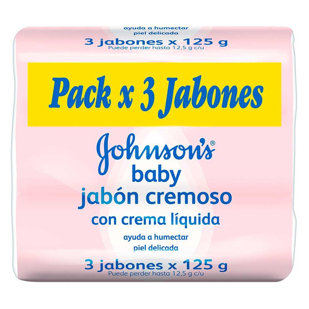 Jab¢n Johnson's baby cremoso conÿingredientes hidratantes