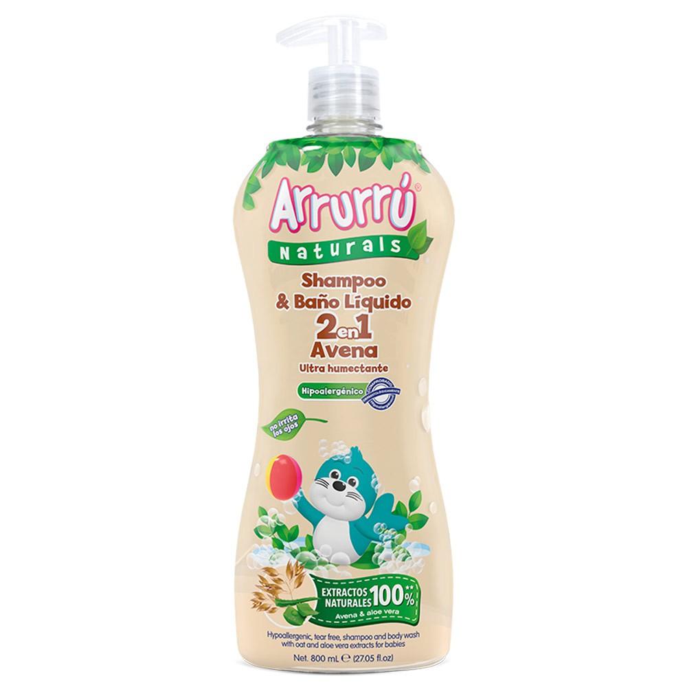 Shampoo Arrurrú naturals baño liquido avena