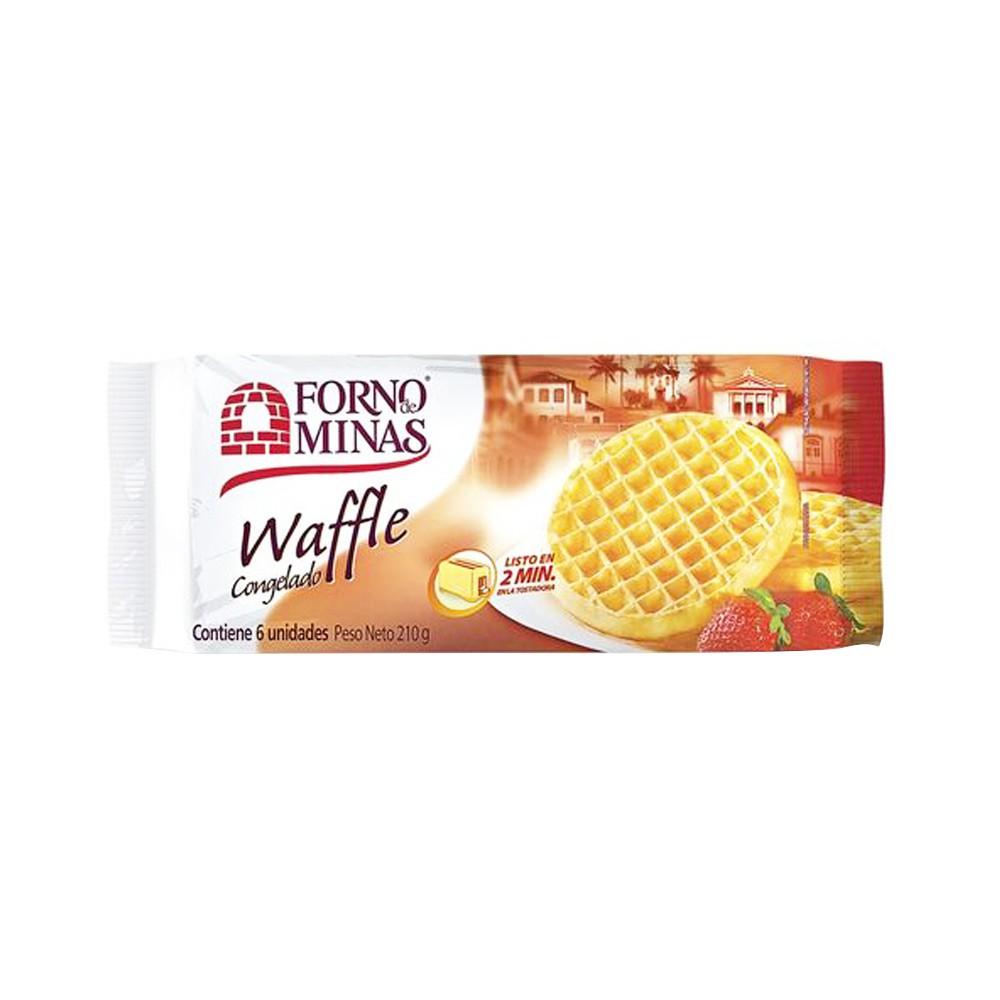 Waffle Forno De Minas congelado x6 unidades x210g