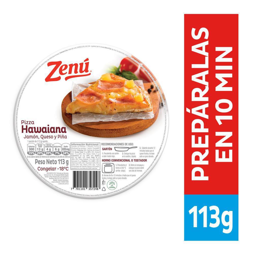 Pizza Zenú hawaiana
