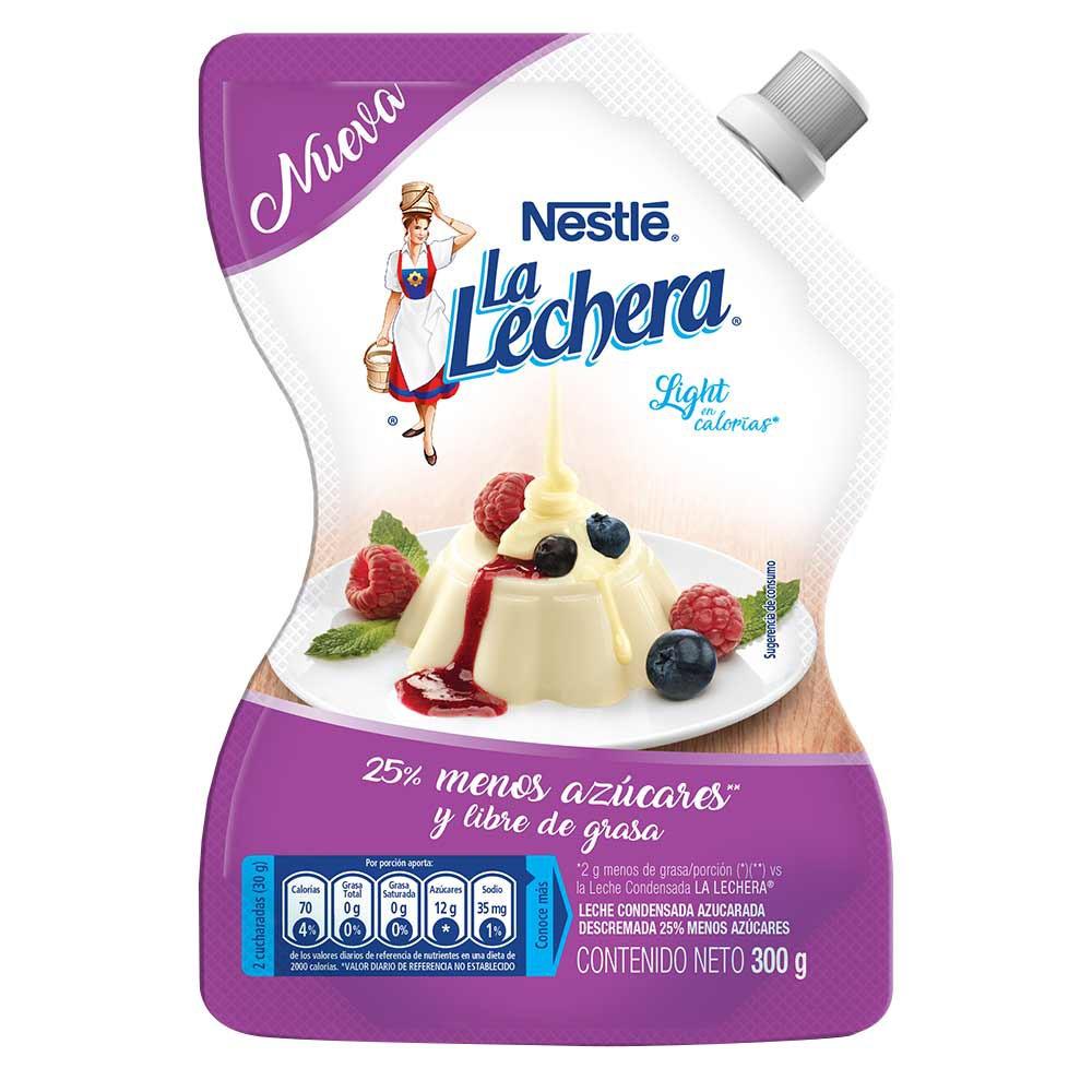 Leche condensada La Lechera light en calorías