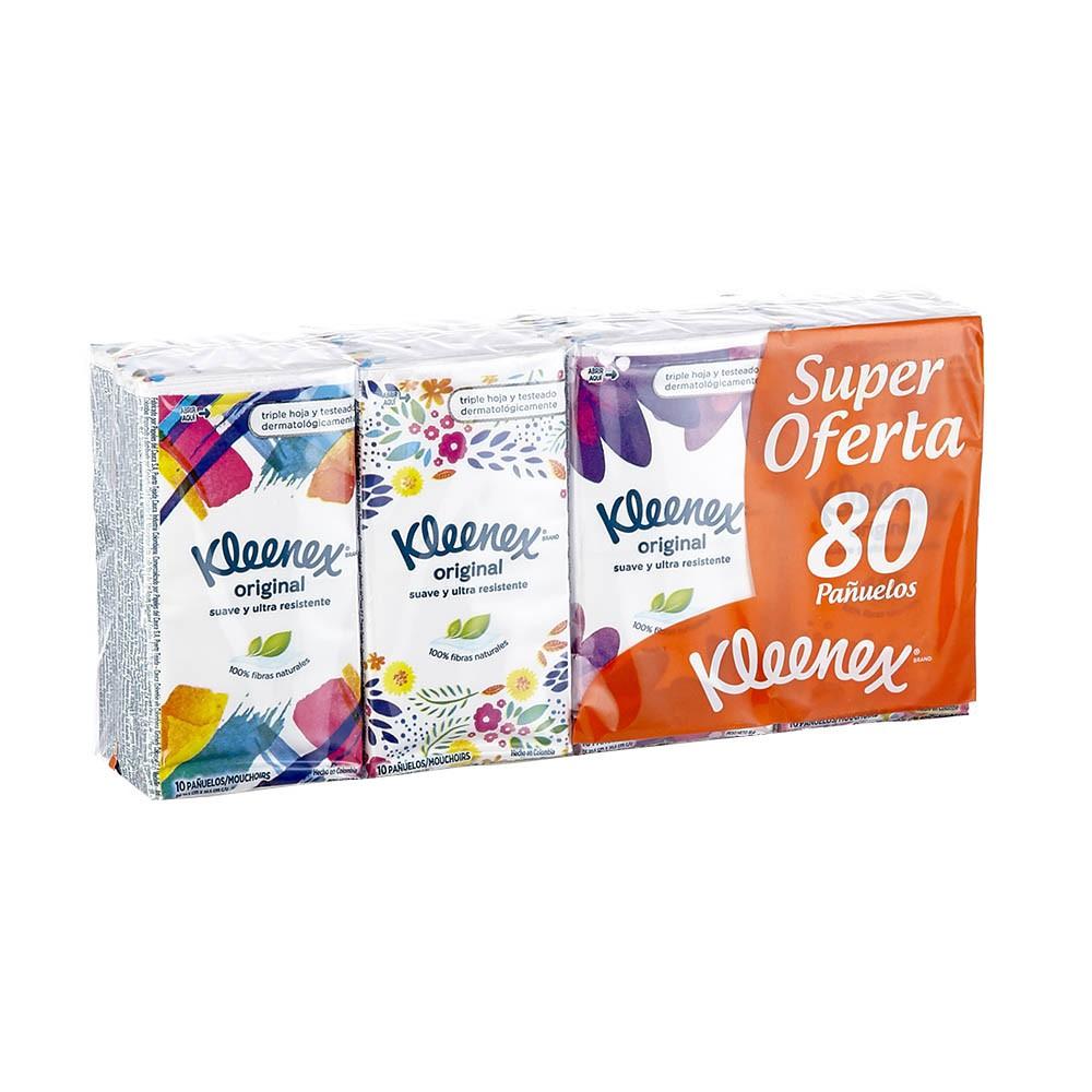 Pañuelos Kleenex triple hoja