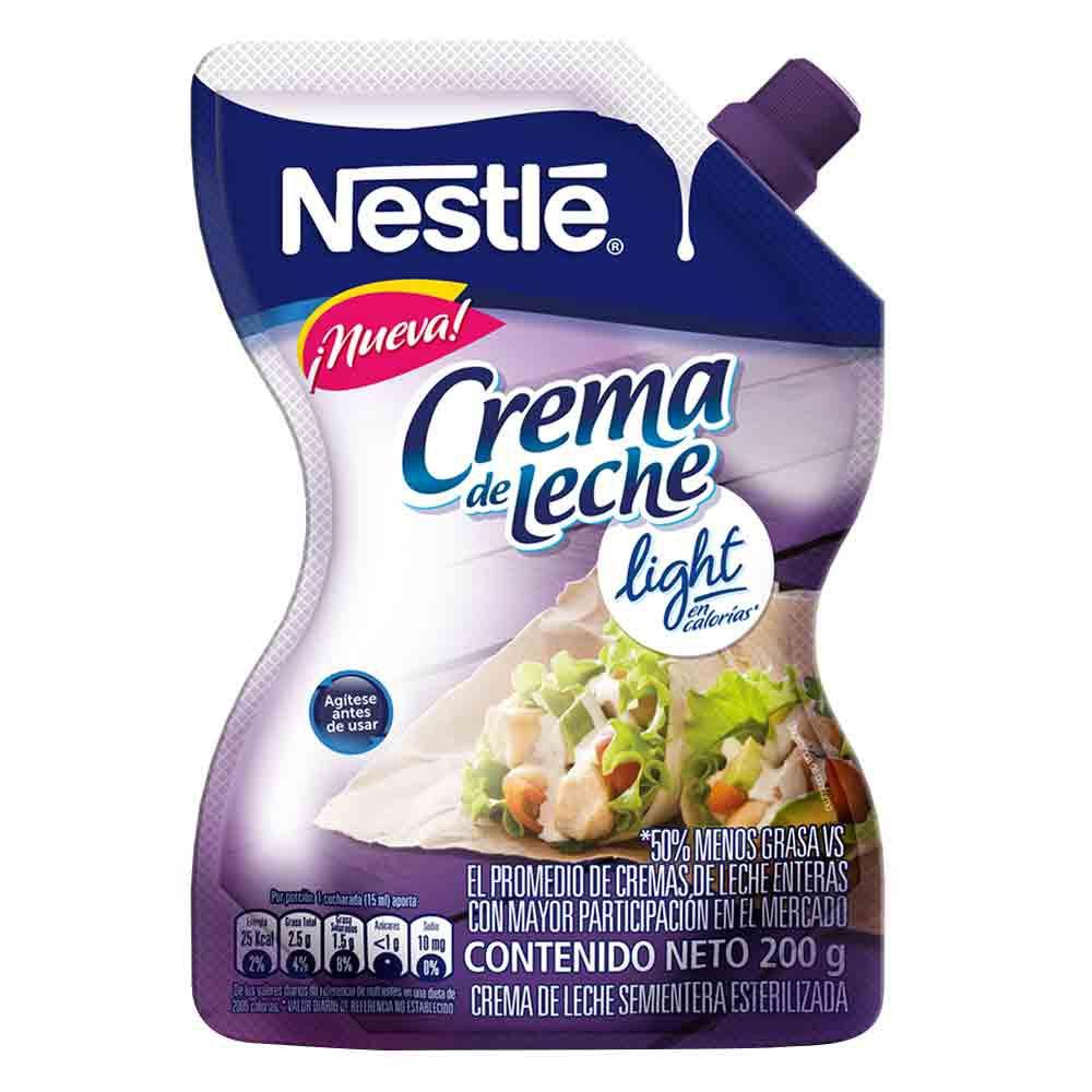 Crema leche Nestlé light bolsa