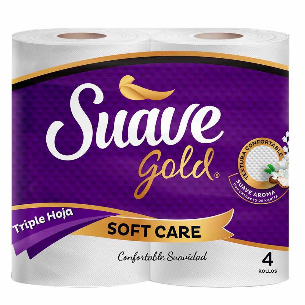 Papel higienico Suave Gold cuidado suave