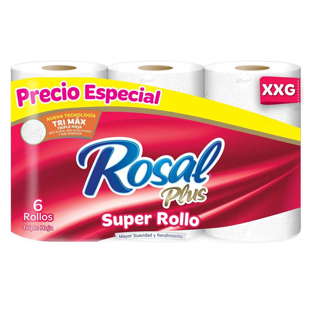 Papel Higiénico Rosal súper rollo Plus triple hoja