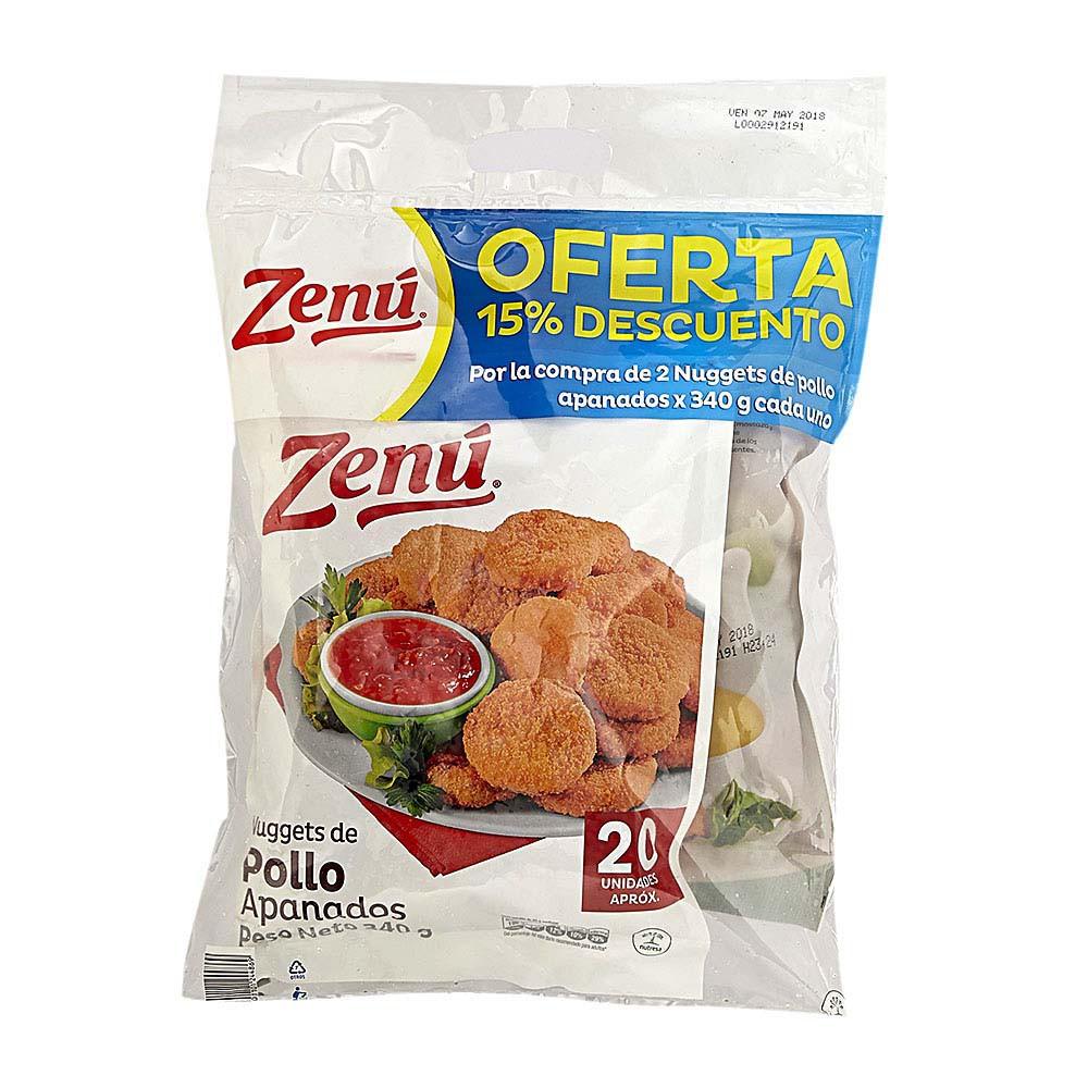 Nuggets pollo apanado Zenú x 2 und x 340 g