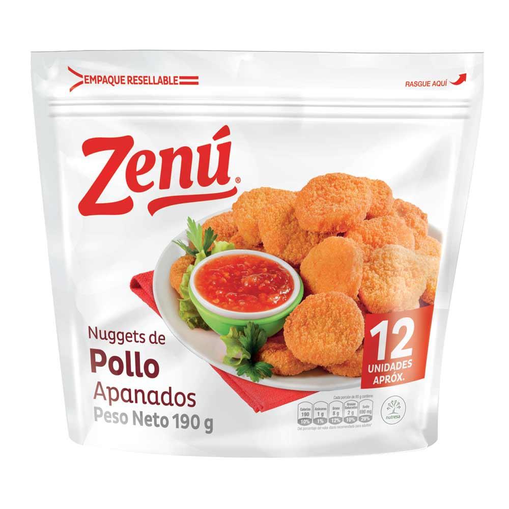 Nuggets Zenu pollo apanado x 12 und x 190 g