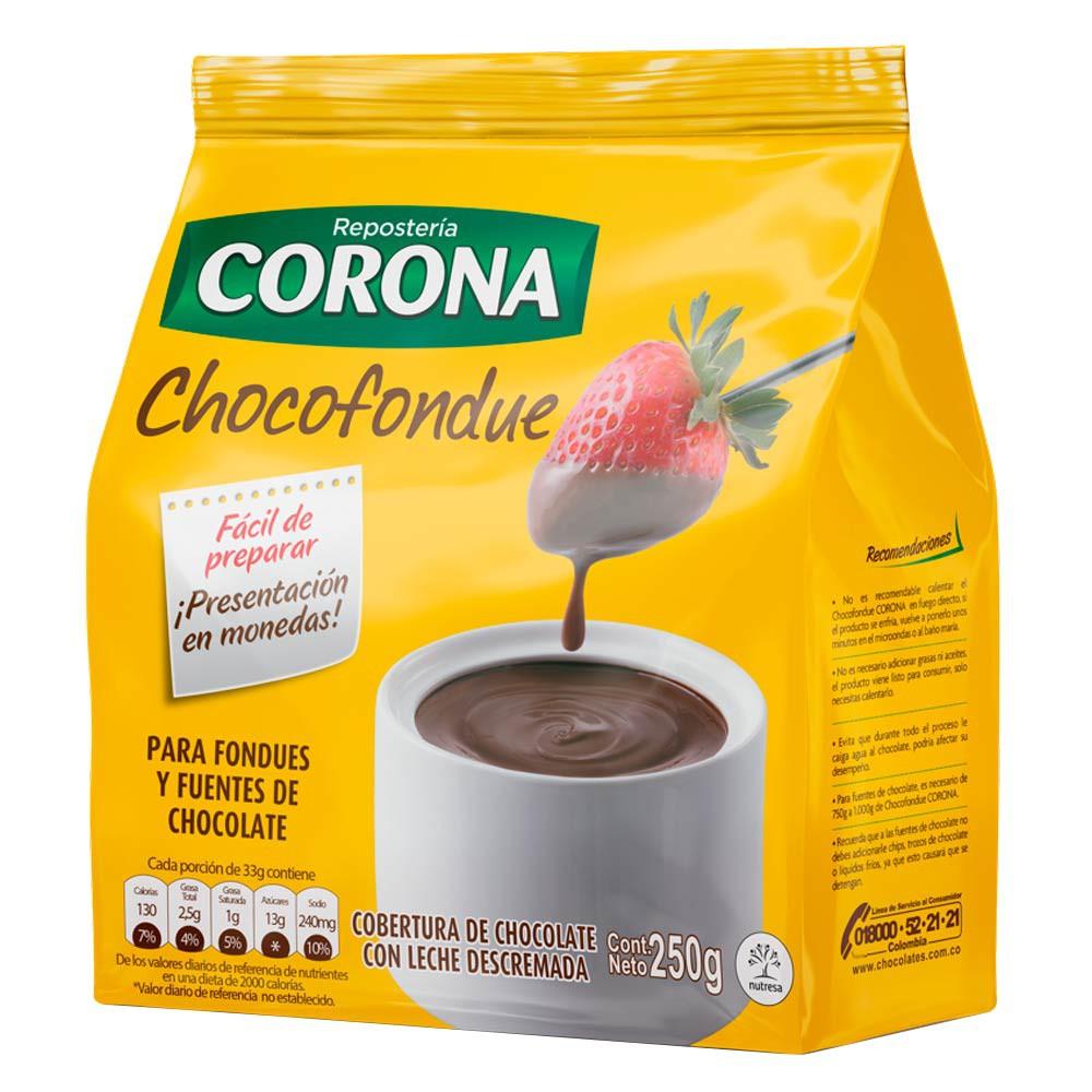Cobertura Corona chocofondue leche descremada