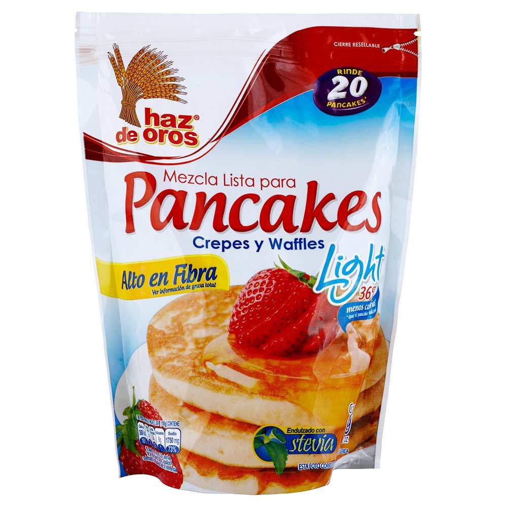 Mezcla lista para pancakes, crepes y waffles light Haz de oros