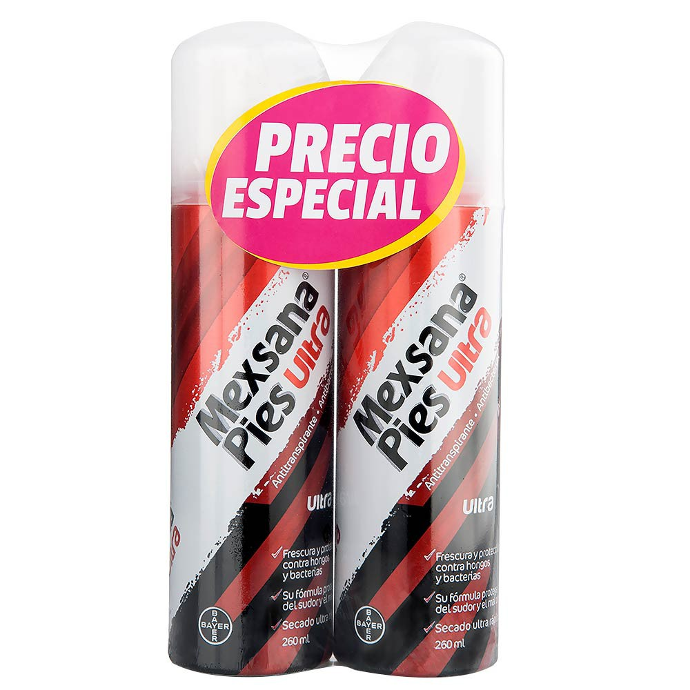 Desodorante Para pies En Aerosol Mexana Ultra 2und x 260ml c-u