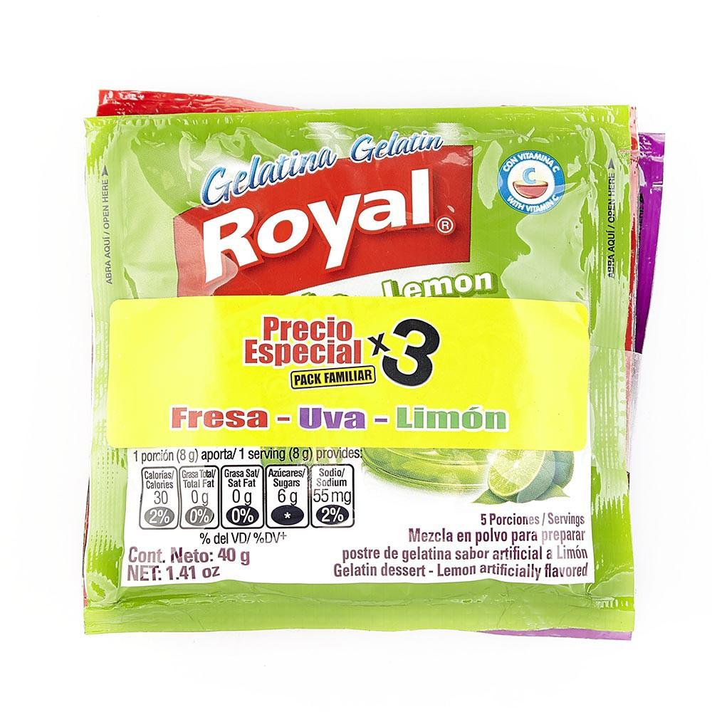 Gelatina Royal Fresa-Uva-Limón