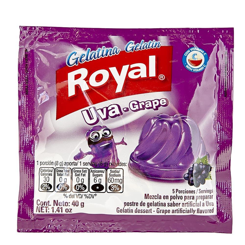 Gelatina Royal Uva
