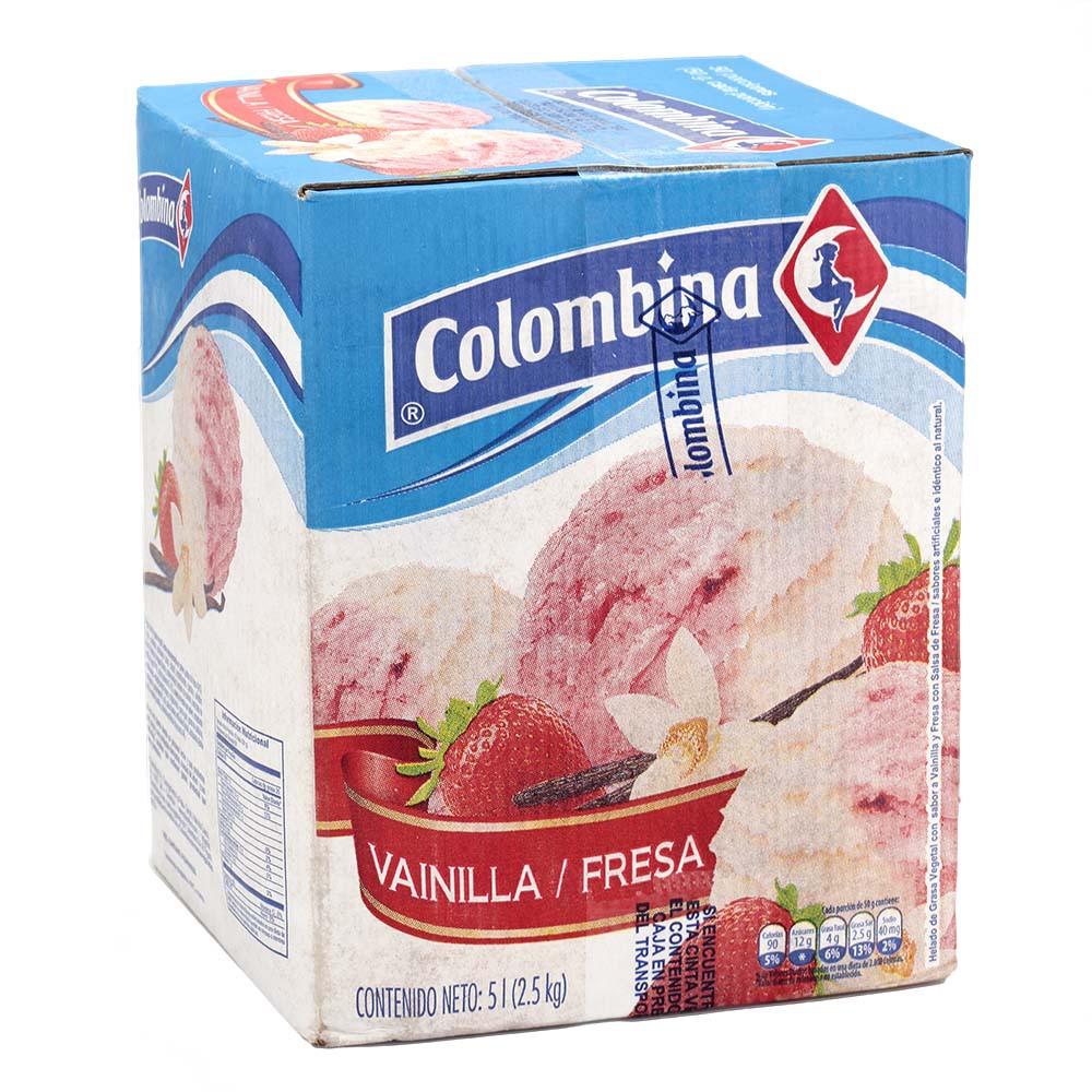 Helado Vainilla - Fresa Colombina