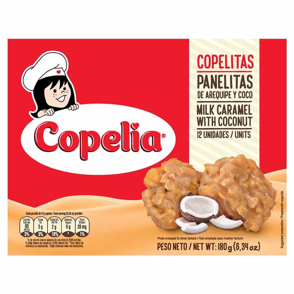 Panelita Copelitas arequipe coco x 12 und x 180 g