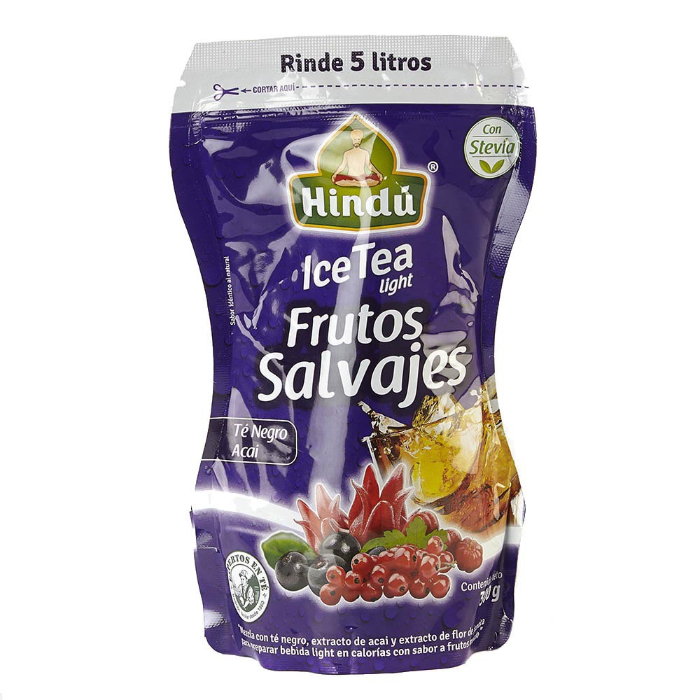 Mezcla de frutos salvajes light ice tea Hindú
