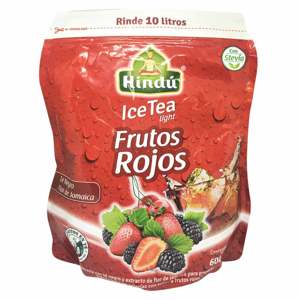 Te polvo ice tea negro light frutos rojos