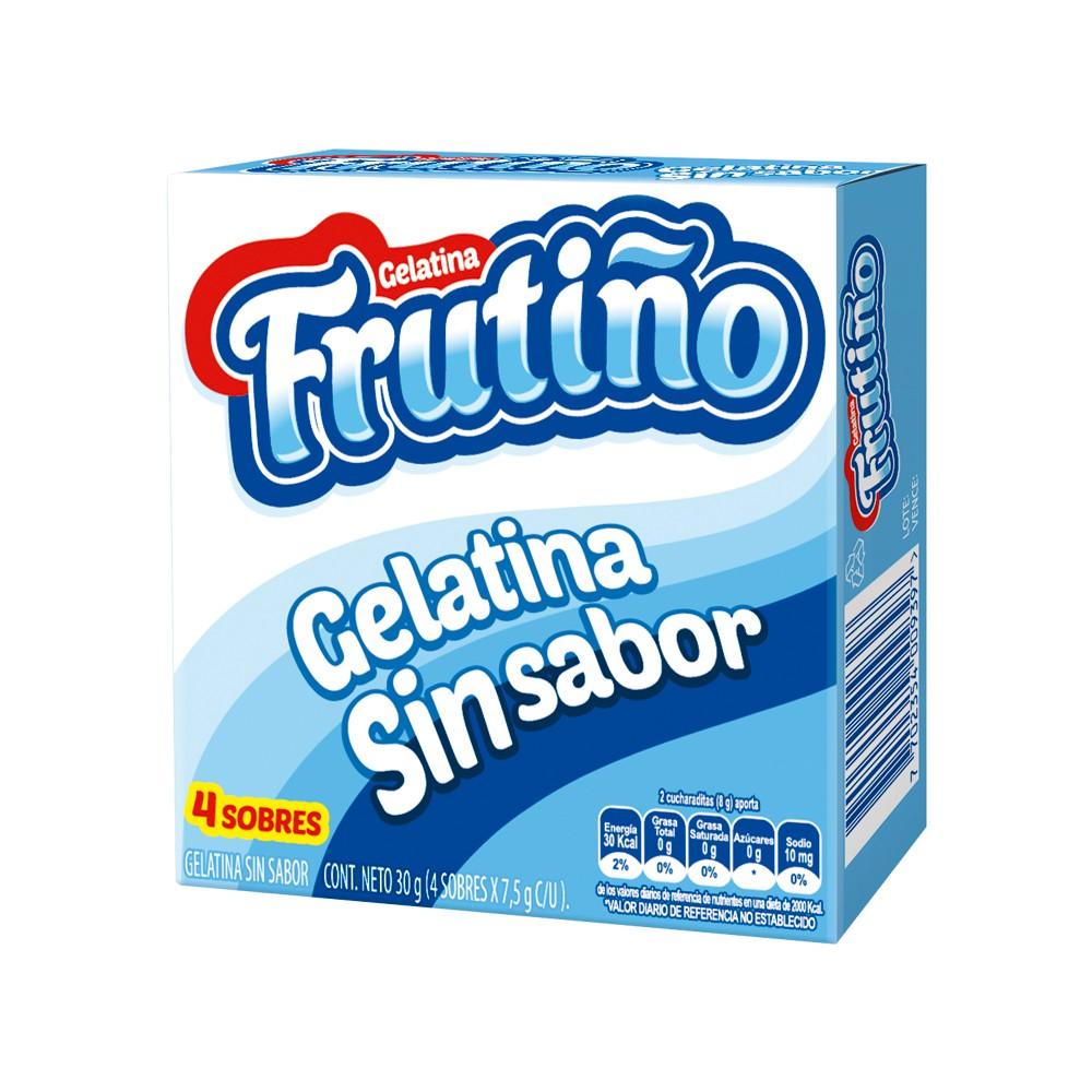 Gelatina frutiño sin sabor