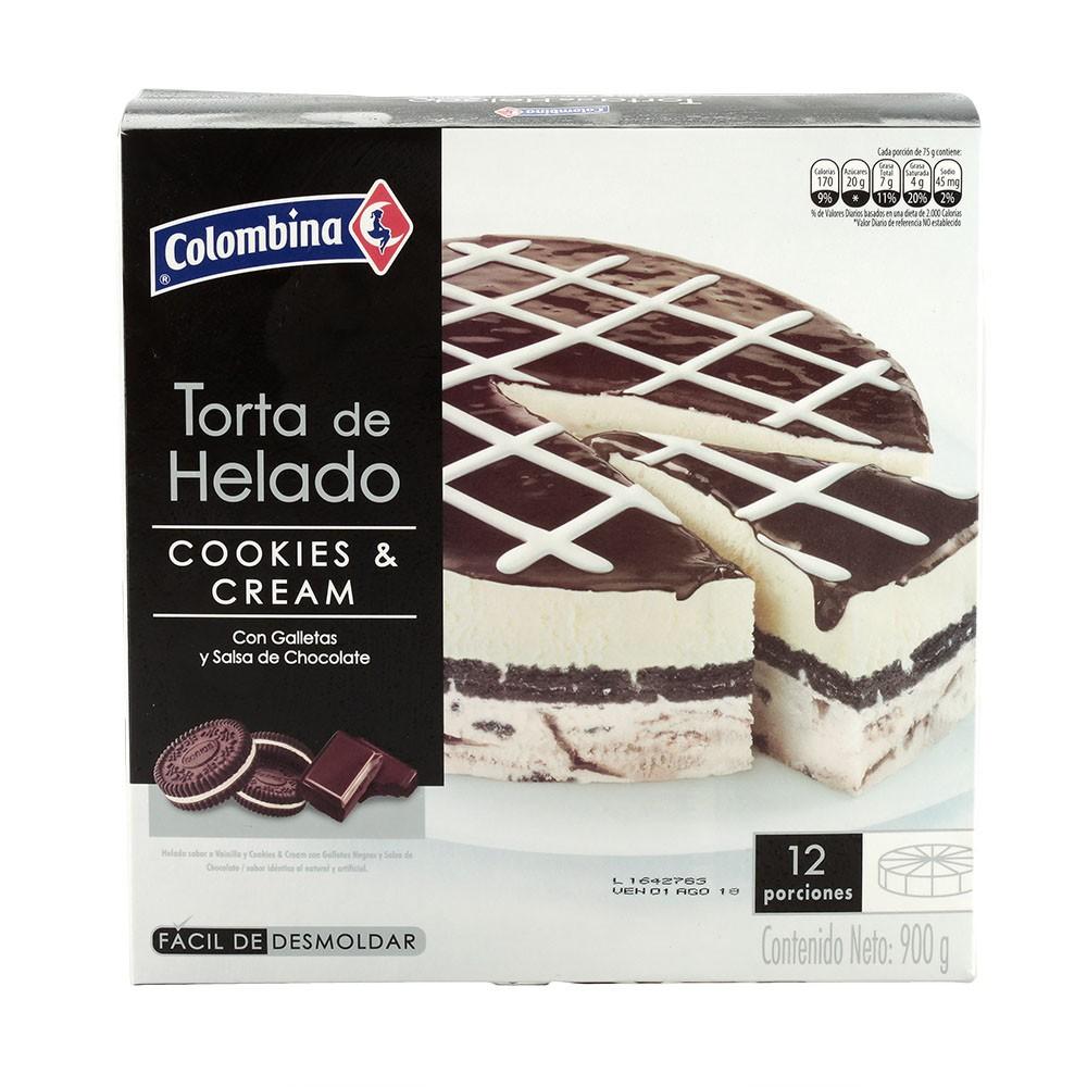 Torta De Helado Cookies Cream