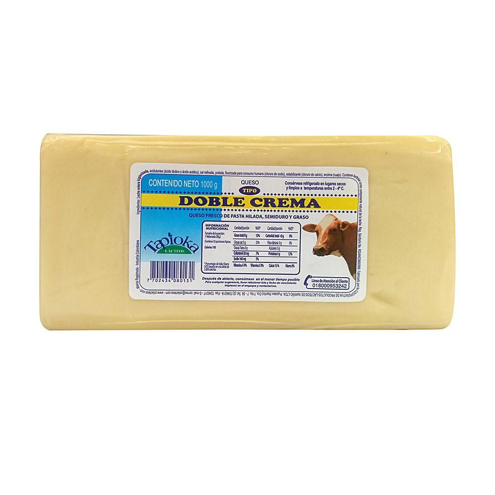 Queso doble crema Tapioka x 1000 g